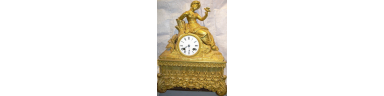 French Bronze Mantle Clock