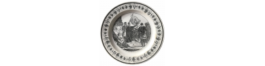 French Philhellenic ceramic plate