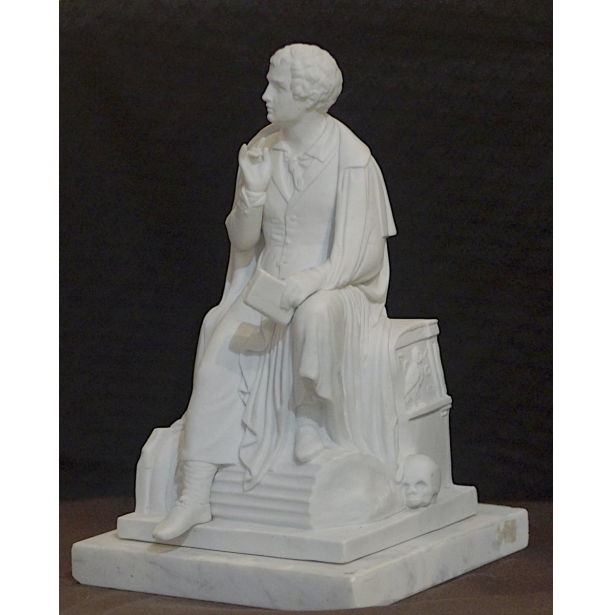 Lord Byron Porcelain Statue