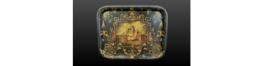 Philhellenic metal serving tray 19th C